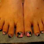 Pretty Looking JapaneseToes Nail Art