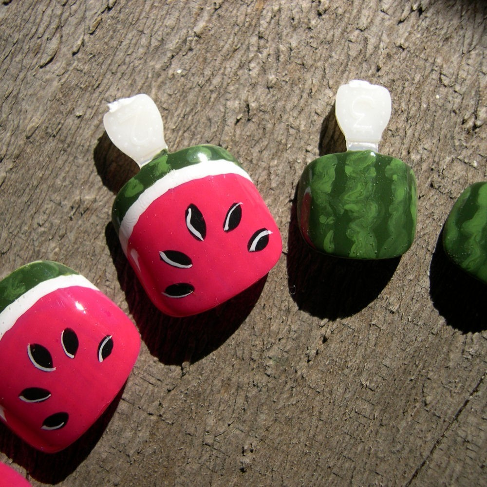 fun-summer-watermelon-nail-art-design
