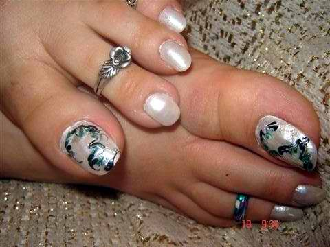 Easy simple nail art for toes marble toe nail art prinsesfo Gallery