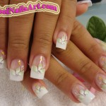 Lovely Nail Art Done with Brush