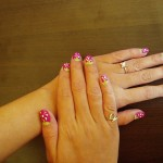 Free Hand Strawberry Nail Art