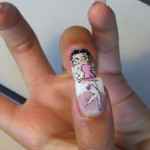 Cool Cartoon Figure Nail Art