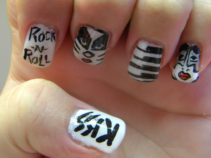 Rock and Roll Nail Art |