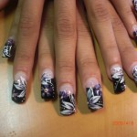 Nail Art Created With Pen and Brush